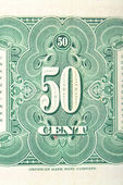 Vintage elements of paper banknotes, United States of America 1923 — Stock Photo