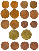 Set Copper Coins South Africa 1-5 cents — Stock Photo