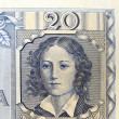 Vintage elements of old paper banknotes Poland 1936, 20 Zlotych — Stock Photo #46040983