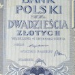 Vintage elements of old paper banknotes Poland 1936, 20 Zlotych — Stock Photo #46040997
