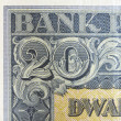 Vintage elements of old paper banknotes Poland 1936, 20 Zlotych — Stock Photo #46041015