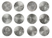 Set silver coins Austria 50 shillings — Stock Photo