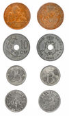 Set coins Belgium 1-50 cents — Stock Photo