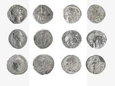Set coin Old silver Roman denarius — Stock Photo