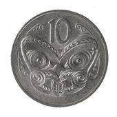 монеты новой зеландии — Стоковое фото