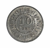Old coins Belgium 10 cents — Stock Photo