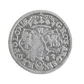 Oude zilveren munt van polen — Stockfoto