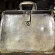 Sculpted metal briefcase — Stock Photo