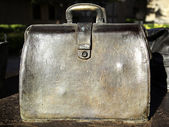 Sculpted metal briefcase — 图库照片