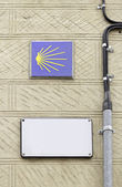 Street with signs — Stock Photo