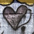 Foto Stock: Graffiti heart