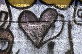 Graffiti heart — Stock Photo