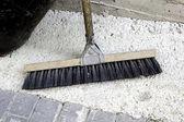 Broom sweeper — Stock Photo