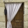 Stock Photo: Door and Curtain