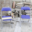 Chairs in work — Stock Photo