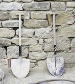 Budowlane łopaty — Zdjęcie stockowe