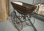 Antique baby carriage — Stock Photo