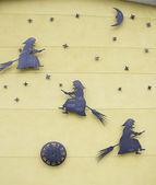Brujas con estrellas en pared — Foto de Stock