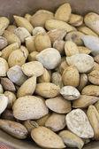 Raw almonds — Stock Photo