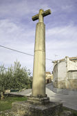 Antica croce di pietra — Foto Stock
