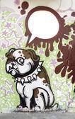Cane di graffiti — Foto Stock