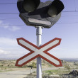 Stock Photo: Traffic signal in route of train