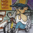 Stock Photo: Graffiti biker