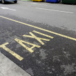 Stock Photo: Taxi rank