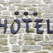 Hotel with a stone facade — Stock Photo