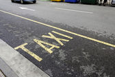 Taxi rank — Stock Photo