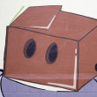 Graffiti box with holes — Stock Photo #14530279