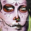 Women face graffiti - Stock Photo