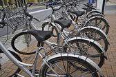 Parked bikes — Stock Photo