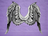 Graffiti angel wings — Stock Photo