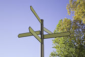 Directional signs — Stock Photo