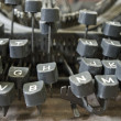 Machine writing — Stock Photo