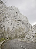 Road with mountains — Stock Photo