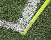Hörnet fotbollsplan — Stockfoto