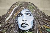 Donne faccia graffiti — Foto Stock