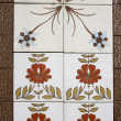Tiles with floral — Stock Photo