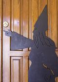 колдун в дверь — Стоковое фото
