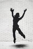 Girl jumping — Stock Photo