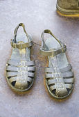 Sandals old — Stock Photo