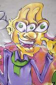 Graffiti kul — Stockfoto
