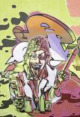 Graffiti person — Stock Photo