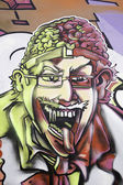 Graffiti of man — Stock Photo