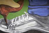 Heeled shoe — Stock Photo