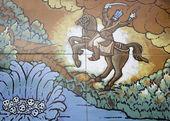 Warrior on Horse — Stock Photo