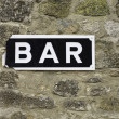 Stock Photo: Pub signboard