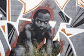 Boy African race — Stock Photo